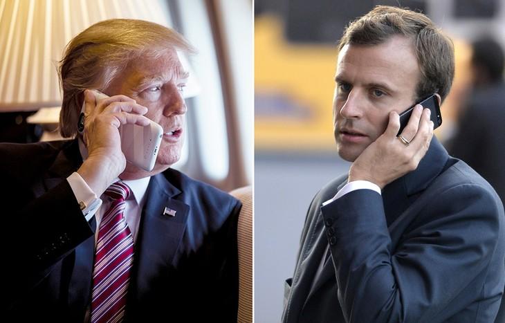 Guerre commerciale: Macron dit à Trump que les taxes américaines sont «illégales» - ảnh 1