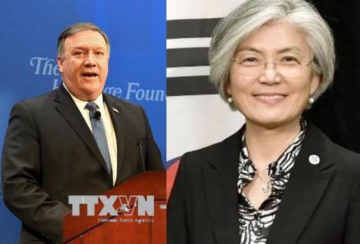 USA-République de Corée: entretien téléphonique des chefs de la diplomatie - ảnh 1