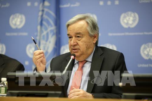 Le secrétaire général de l'ONU apprécie la coopération du Vietnam  - ảnh 1