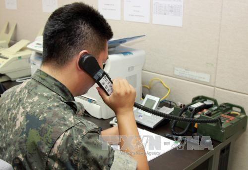 Les deux Corées rétablissent la ligne de communication militaire occidentale - ảnh 1
