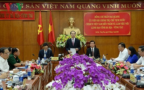 Trân Dai Quang en déplacement à Bà Ria-Vung Tàu - ảnh 1