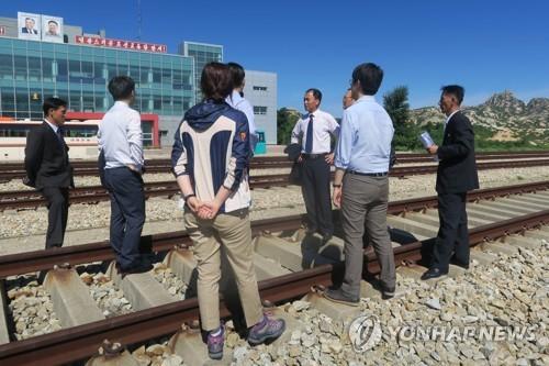 Coopération ferroviaire intercoréenne : inspection  sur le segment Kaesong-MDL - ảnh 1