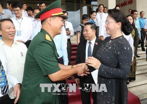 La chef de l'AN rencontre des lauréats du prix Nguyên Duc Canh - ảnh 1