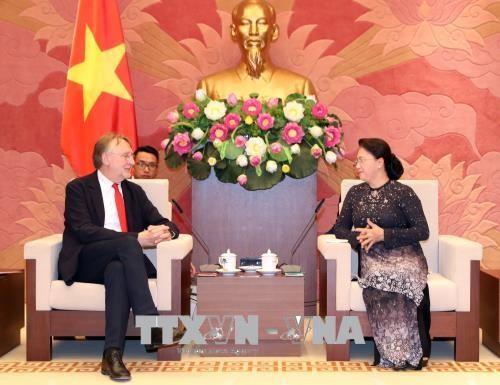 Bernd Lange rencontre la présidente de l'AN Nguyên Thi Kim Ngân - ảnh 1
