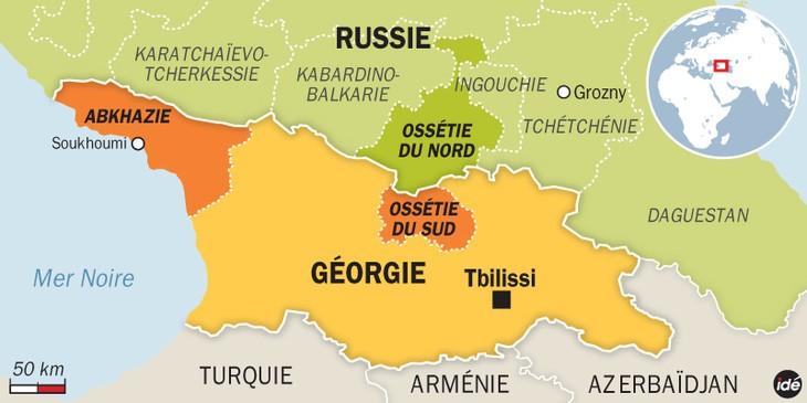 Moscou va répliquer si l'OTAN se présente à la frontière de la Géorgie - ảnh 1