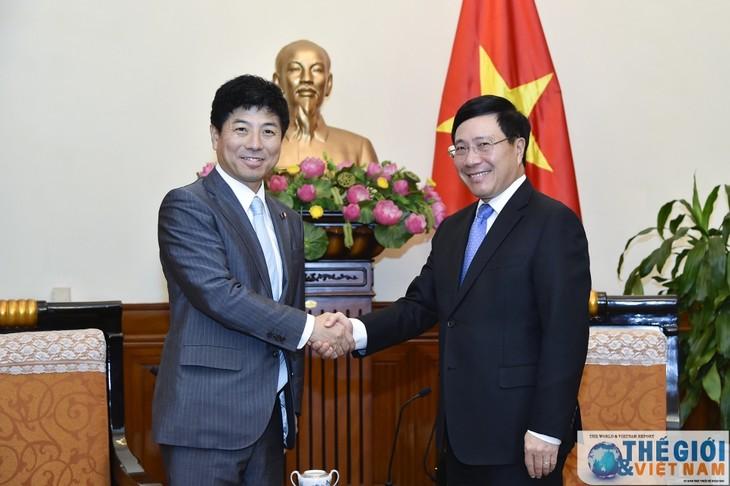 Pham Bình Minh reçoit un diplomate japonais - ảnh 1