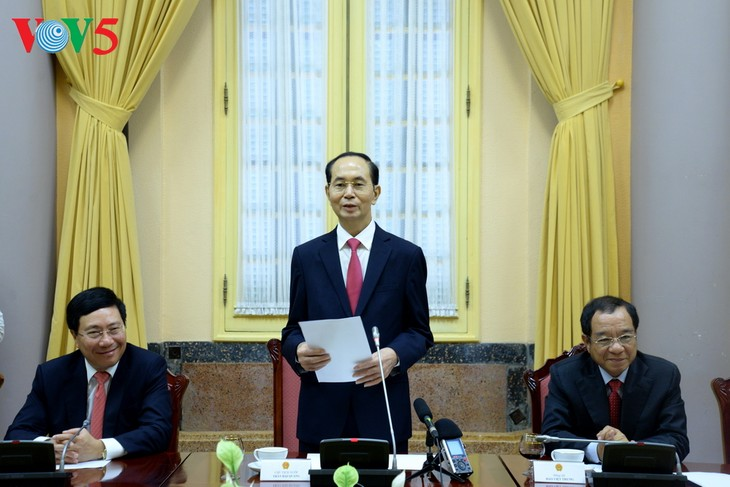 Le président Trân Dai Quang reçoit les nouveaux ambassadeurs vietnamiens - ảnh 1