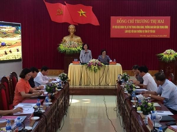 Truong Thi Mai en déplacement dans la province de Yên Bai - ảnh 1