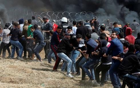 Gaza: des Palestiniens manifestent à la frontière avec Israël - ảnh 1