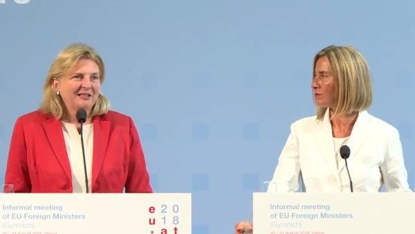 Réunion des ministres des Affaires étrangères de l'UE à Vienne - ảnh 1
