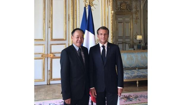 L'ambassadeur du Vietnam présente sa lettre de créance au Président français - ảnh 1