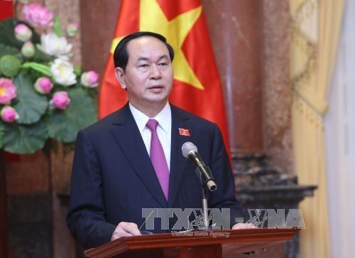 Le président Trân Dai Quang félicite la 39e AIPA - ảnh 1