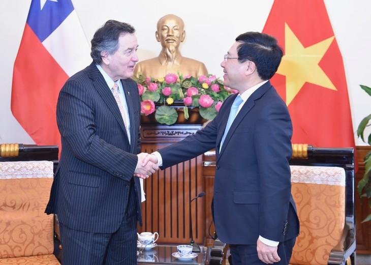 Pham Binh Minh reçoit le chef de la diplomatie chilienne - ảnh 1