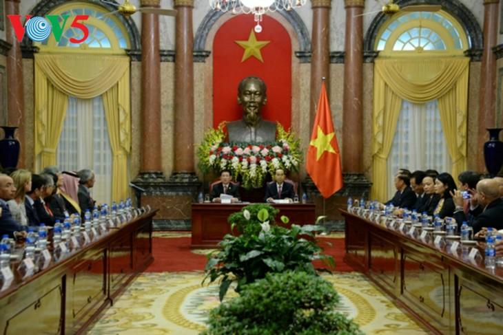 ASOSAI 14: Le président Trân Dai Quang reçoit les chefs de délégations - ảnh 1