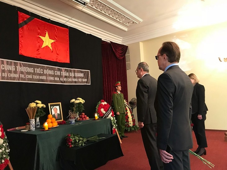 Руководители стран и вьетнамцы за границей выразили соболезнования в связи с кончиной Чан Дай Куанга  - ảnh 1