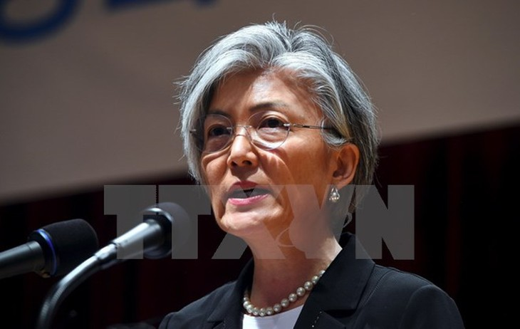 La chef de la diplomatie sud-coréenne promet d'appliquer les sanctions contre le Nord - ảnh 1