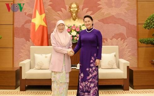 La vice-Première ministre malaisienne reçue par Nguyên Thi Kim Ngân  - ảnh 1