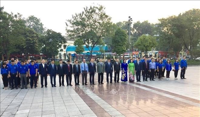 Hanoï: commémoration du 101e anniversaire de la Révolution d'Octobre russe  - ảnh 1