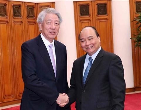 Nguyên Xuân Phuc reçoit Teo Chee Hean - ảnh 1