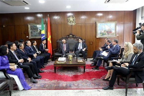 Le Vietnam et le Brésil promeuvent la coopération dans le secteur législatif - ảnh 1