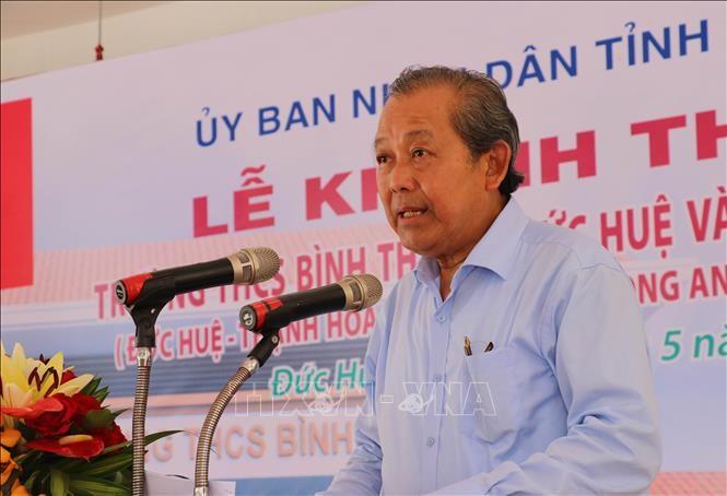 Truong Hoa Binh à l'inauguration du collège Binh Thành (Long An) - ảnh 1