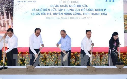 Thanh Hoa: Le Premier ministre inaugure un projet d'élevage bovin - ảnh 1
