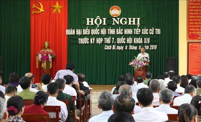 Les dirigeants du Parti et de l'État rencontrent leur électorat - ảnh 1