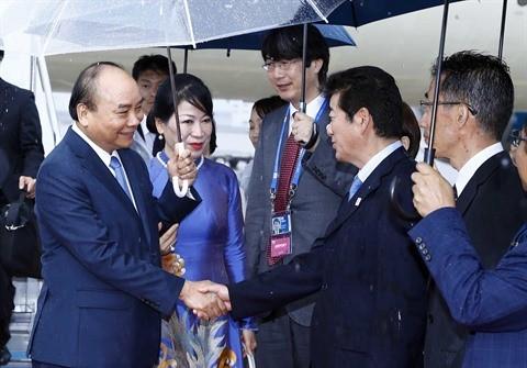 Le Premier ministre Nguyên Xuân Phuc est arrivé à Osaka - ảnh 1