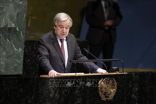 """Le chef de l'ONU appelle à une action urgente pour éviter une """"catastrophe"""" climatique - ảnh 1"""