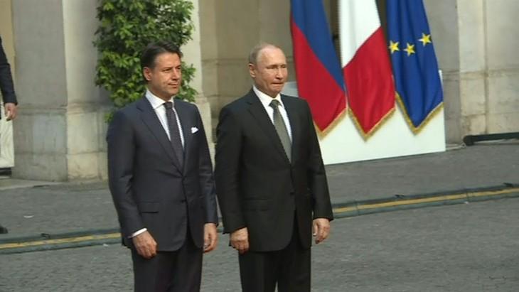 Giuseppe Conte reçoit Vladimir Poutine à Rome  - ảnh 1