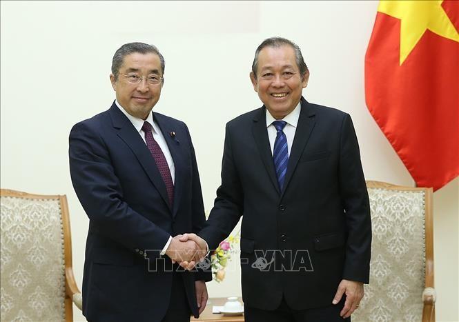 Le ministre d'Etat japonais pour les Affaires intérieures et les Communications en visite au Vietnam - ảnh 1