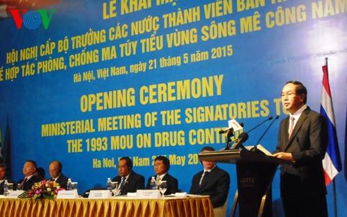 Các nước thành viên tiểu vùng sông Mekong chia sẻ trách nhiệm trong đấu tranh phòng chống ma túy - ảnh 1