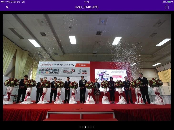 20 quốc gia tham dự triển lãm Vietnam Manufacturing Expo 2016   - ảnh 1