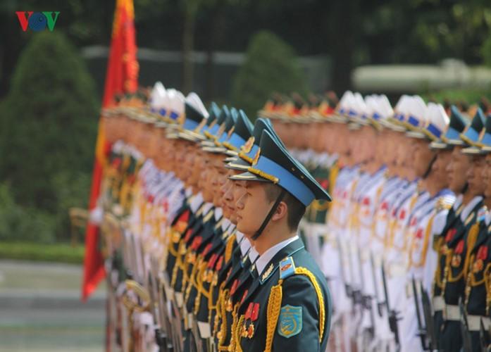 Lễ đón chính thức Tổng Bí thư, Chủ tịch nước Lào tại Hà Nội - ảnh 2