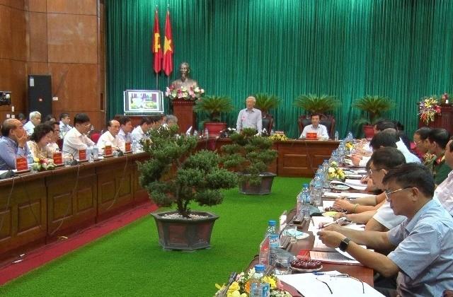 Tổng Bí thư Nguyễn Phú Trọng làm việc với lãnh đạo tỉnh Điện Biên - ảnh 1