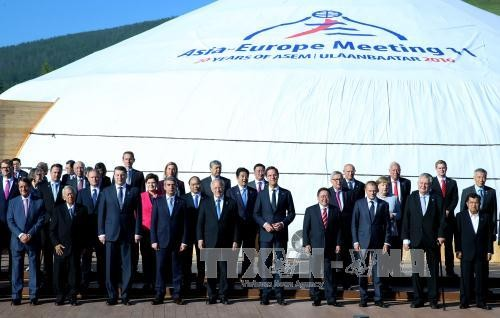 Bế mạc Hội nghị cấp cao ASEM 11 tại Mông Cổ - ảnh 1