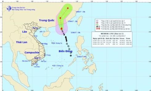 Bão số 1 gây gió giật mạnh trên quần đảo Trường Sa - ảnh 1