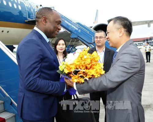 Chủ tịch Thượng viện Cộng hòa Haiti bắt đầu thăm chính thức Việt Nam - ảnh 1