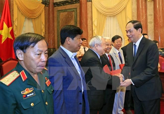 Chủ tịch nước Trần Đại Quang gặp mặt cựu Quân nhân tình nguyện giúp Campuchia - ảnh 1