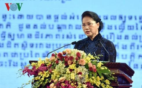 Kỷ niệm trọng thể 50 năm ngày thiết lập quan hệ ngoại giao Việt Nam - Campuchia - ảnh 1