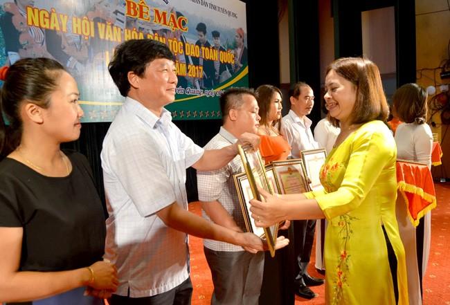 Bế mạc ngày hội văn hóa dân tộc Dao toàn quốc lần thứ nhất năm 2017  - ảnh 1