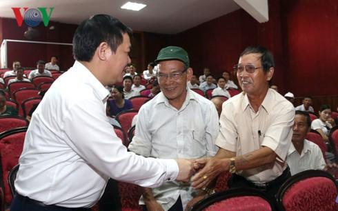 Phó Thủ tướng Vương Đình Huệ tiếp xúc cử tri tại Hà Tĩnh  - ảnh 1