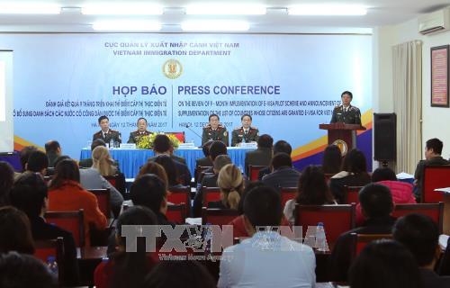 Bộ Công an họp báo về thí điểm cấp thị thực điện tử - ảnh 1