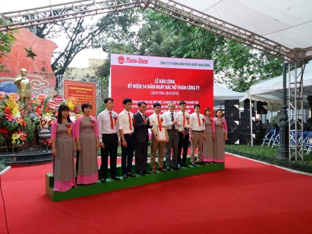 Công ty Rạng Đông kỷ niệm 54 năm Ngày Chủ tịch Hồ Chí Minh về thăm  - ảnh 1