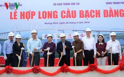Chủ tịch Quốc hội dự Lễ hợp long cầu Bạch Đằng nối Quảng Ninh và Hải Phòng  - ảnh 1