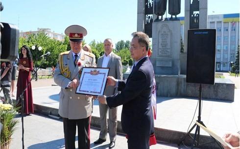 Gặp gỡ cựu chiến binh Việt Nam-Ukraine sau 73 năm chiến thắng phát xít - ảnh 3