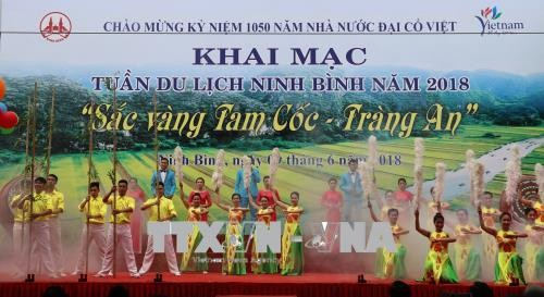 Khai mạc Tuần du lịch Ninh Bình Sắc vàng Tam Cốc - Tràng An - ảnh 1