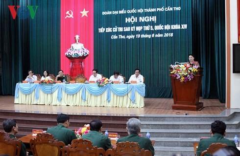 Chủ tịch Quốc hội tiếp xúc cử tri tại Cần Thơ - ảnh 3
