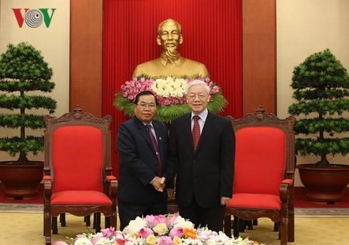 Tổng Bí thư Nguyễn Phú Trọng tiếp Phó Chủ tịch Quốc hội Lào - ảnh 1