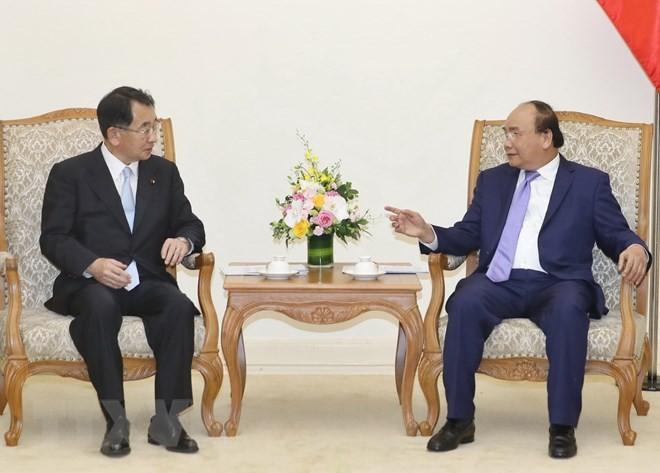 Thủ tướng Nguyễn Xuân Phúc tiếp Chủ tịch Liên minh Nghị sỹ Hữu nghị Nhật Bản-Mekong - ảnh 1